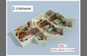 472, Две спальни, три балкона, свой пляж!