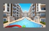 908, Апартаменты с 2 балконами с комплексе со своим пляжем